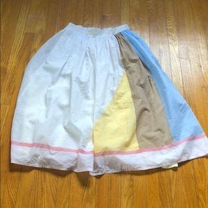 Vintage colour block skirt